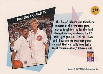 1991 92 SkyBox 479 Kevin Johnson Tom Chambers Back