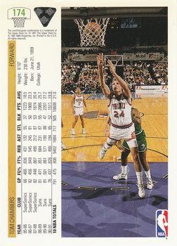 1991 92 Upper Deck 174 Tom Chambers Back
