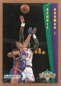 1992 93 Fleer 289 Dennis Rodman Front