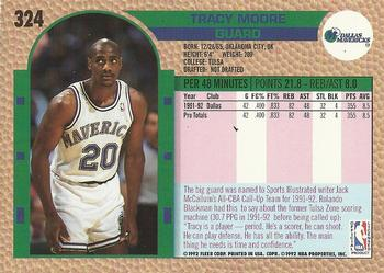 1992-93 Fleer #324 Tracy Moore Back