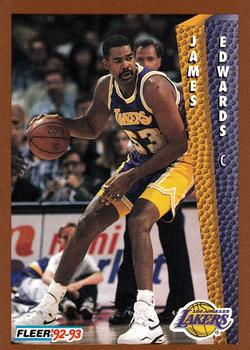 1992-93 Fleer #363 James Edwards Front