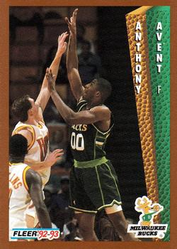 1992-93 Fleer #371 Anthony Avent Front