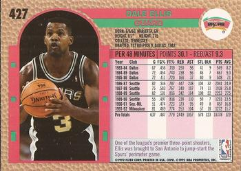 1992-93 Fleer #427 Dale Ellis Back