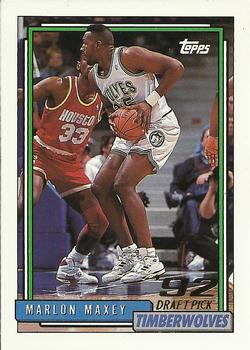 1992-93 Topps #346 Marlon Maxey Front