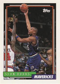 1992-93 Topps #292 Sean Rooks Front