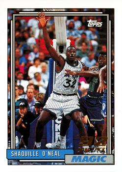 1992-93 Topps #362 Shaquille O'Neal Front