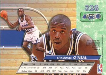 1992-93 Ultra #328 Shaquille O'Neal Back