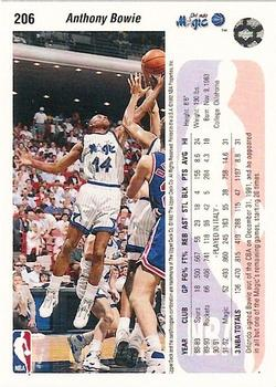 1992-93 Upper Deck #206 Anthony Bowie Back
