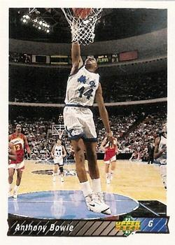 1992-93 Upper Deck #206 Anthony Bowie Front