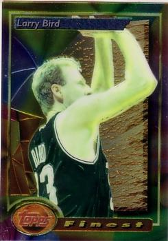 1993-94 Finest #2 Larry Bird Front