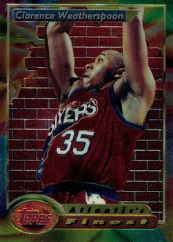 1993-94 Finest #91 Clarence Weatherspoon Front