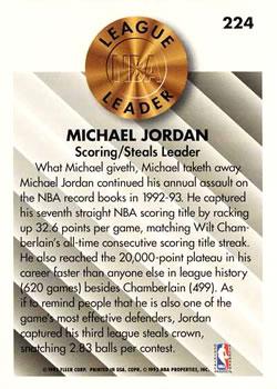 1993-94 Fleer #224 Michael Jordan Back