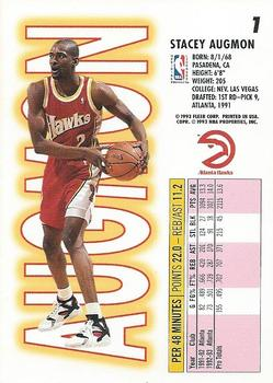 1993-94 Fleer #1 Stacey Augmon Back