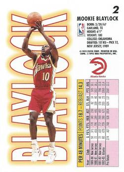 1993-94 Fleer #2 Mookie Blaylock Back