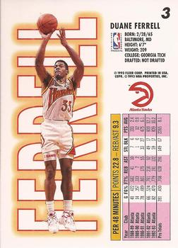 1993-94 Fleer #3 Duane Ferrell Back