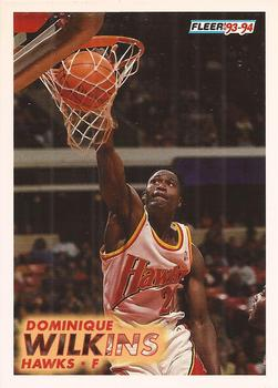 1993-94 Fleer #7 Dominique Wilkins Front