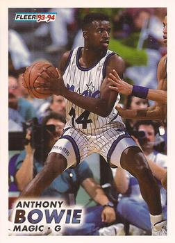 1993-94 Fleer #148 Anthony Bowie Front