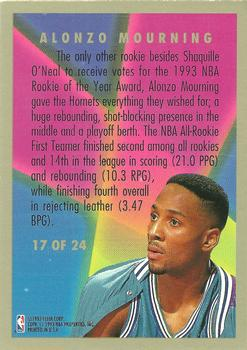 1993-94 Fleer - Rookie Sensations #17 Alonzo Mourning Back