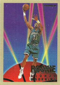 1993-94 Fleer - Rookie Sensations #17 Alonzo Mourning Front