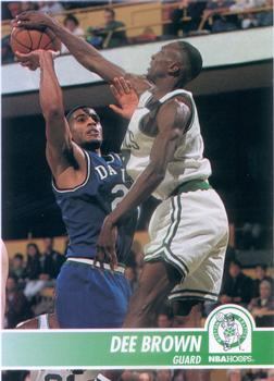 1994-95 Hoops #8 Dee Brown Front