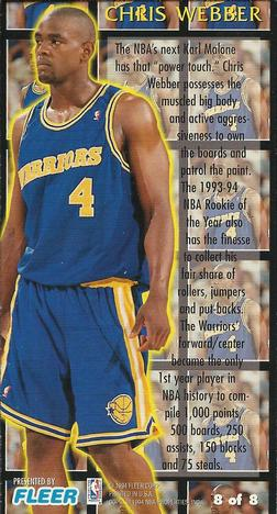 Chris Webber Gallery The Trading Card Database
