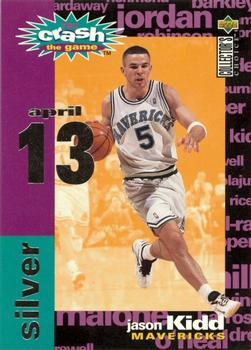 1995-96 Collector's Choice - You Crash the Game Assists/Rebounds #C12C Jason Kidd 4 / 13 W Front