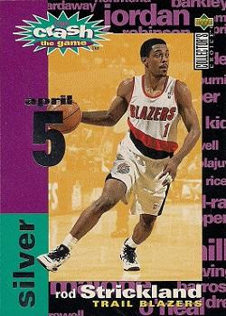 1995-96 Collector's Choice - You Crash the Game Assists/Rebounds #C13C Rod Strickland 4 / 5 L Front