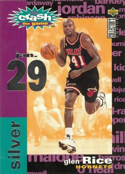1995-96 Collector's Choice - You Crash the Game Assists/Rebounds #C14 Glen Rice Front
