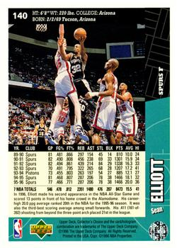 1996-97 Collector's Choice #140 Sean Elliott Back