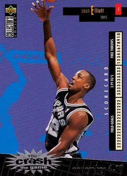 1996-97 Collector's Choice - You Crash the Game Scoring 1 #C24 Sean Elliott Front