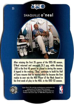 1996 SPx #35 Shaquille O'Neal  Back