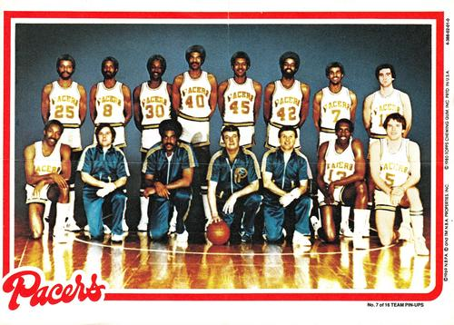 1980-81 Topps - Team Posters #7 Indiana Pacers | The Trading