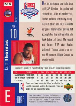 1995-96 Collector's Choice - Draft Trade #D10 Kurt Thomas Back