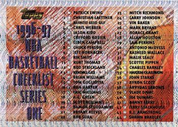 1996-97 Topps #111 Checklist Front