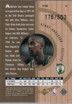 1998 Upper Deck Hardcourt - Home Court Advantage Plus #12 Kenny Anderson Back