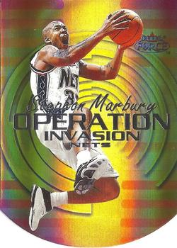 1999-00 Fleer Force - Operation Invasion Forcefield #15OI Stephon Marbury Front