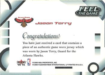 2000-01 Fleer Tradition - Feel the Game #NNO Jason Terry Back