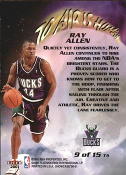 2000-01 Fleer Showcase - To Air is Human #TA9 Ray Allen Back