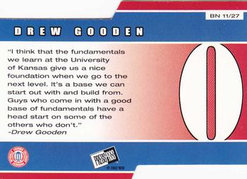 2002 Press Pass - Big Numbers #BN11 Drew Gooden Back