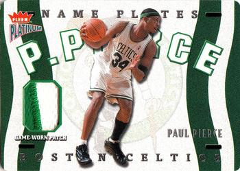 2002-03 Fleer Platinum - Nameplates #N-PP Paul Pierce Front