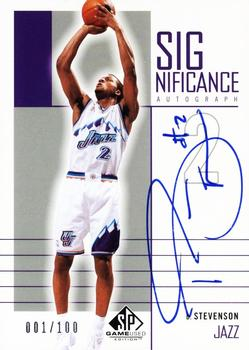 2002-03 SP Game Used - SIGnificance #DS DeShawn Stevenson Front
