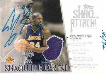 937f64673d0 2002-03 Topps - Shaq Attack Relics Autographs  SAA1 Shaquille O Neal Front