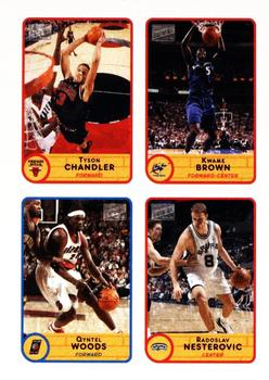 2003-04 Bazooka - Four on One Stickers #22 Tyson Chandler / Kwame Brown / Qyntel Woods / Radoslav Nesterovic Front