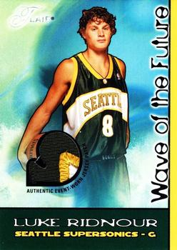 2003-04 Flair - Wave of the Future Patches #LR Luke Ridnour Front