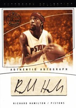 2003-04 Flair Final Edition - Autograph Collection 25 #RH Richard Hamilton Front