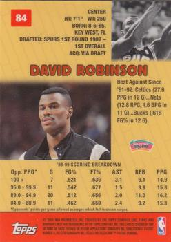 1999-00 Bowman's Best #84 David Robinson Back