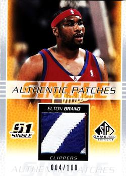 2003-04 SP Game Used - Authentic Patches #EBP Elton Brand Front
