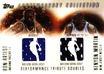52f542caf328 2003-04 Topps Contemporary Collection - Performance Tribute Doubles  PTD-AM Ron  Artest