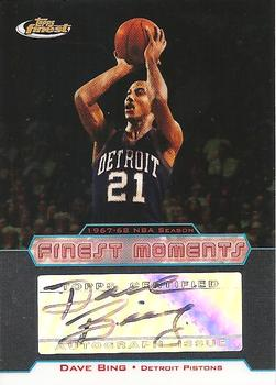 2004-05 Finest - Moments Autographs #DB Dave Bing Front