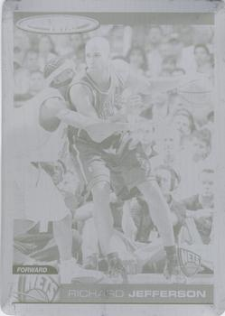 2004-05 Topps Total - Press Plates Black #68 Richard Jefferson Front